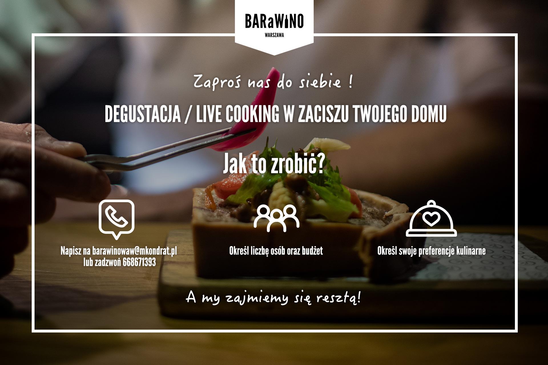 Degustacja / live cooking w zaciszu Twojego domu